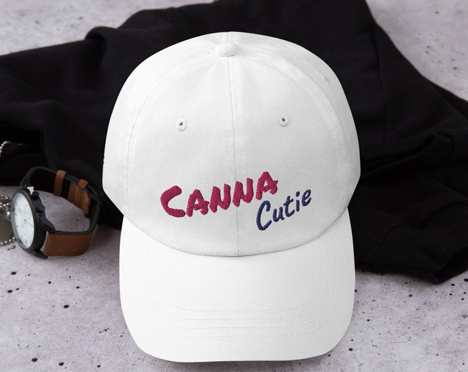 Canna Cutie Maid Of Honor Baseball Cap, Bachelorette Party Gear, Cannabis Themed Wedding Party Apparel