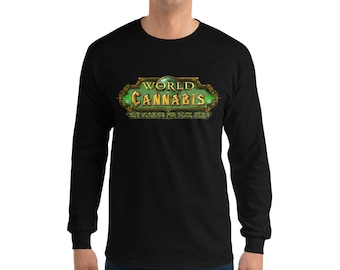 Twisted420Gaming Long-Sleeve Men's Gaming T-Shirt World of Cannabis, The Crusade for the Dank Haze