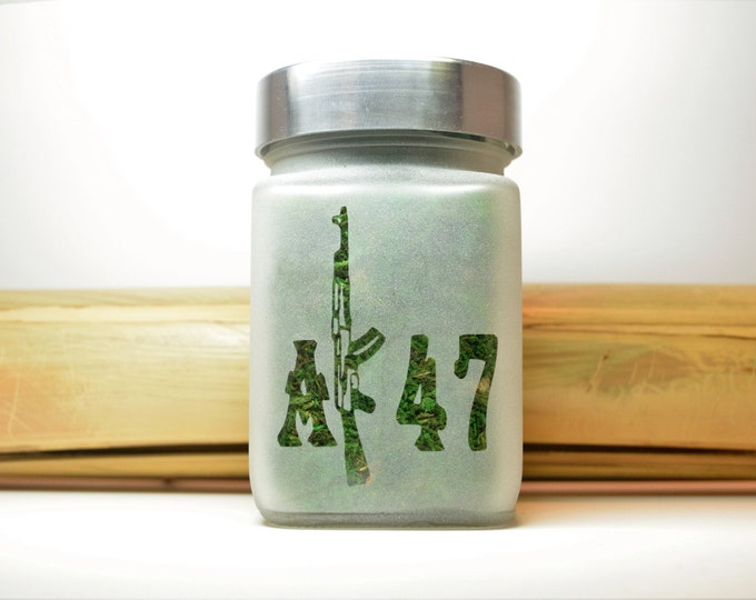 AK-47 Stash Jar - Weed Accessories, Stoner Gifts & Stash Jars - Weed Jars for Gifts - Ganja Gift Ideas for Him