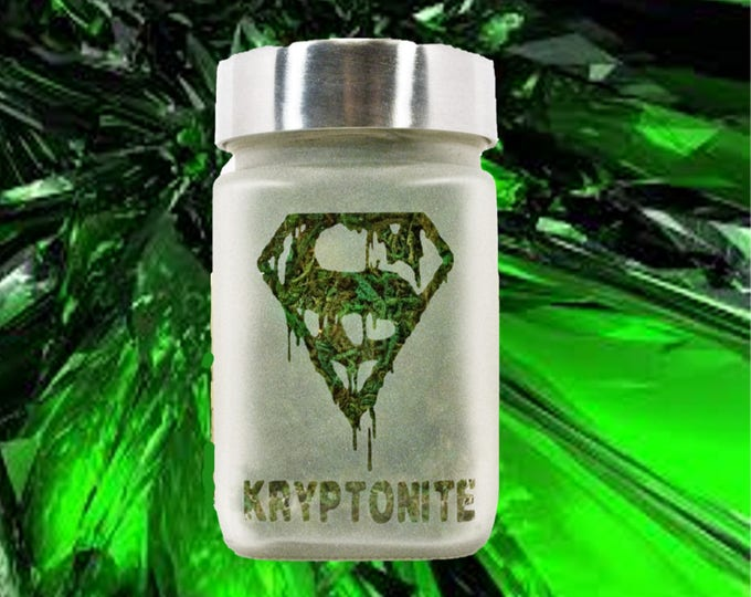 Dripping Crystal Kryptonite Stash Jar - Weed Accessories - Weed Jar - 420 Stoner Gifts - Cool Stash Jars for Weed