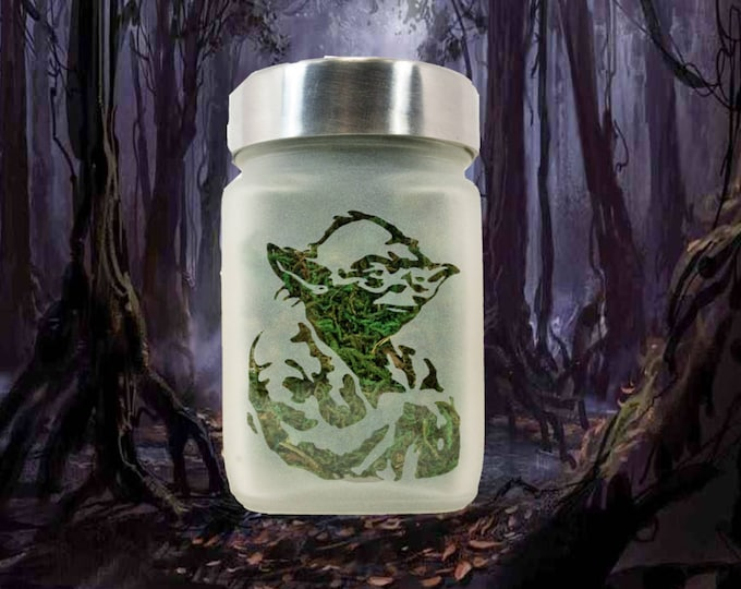 Yoda Stash Jar - Jedi Master - Star Wars Cannabis Edibles Storage - Cool Stash Jars - Stoner Accessories, Weed Jars - Weed 420 Gifts