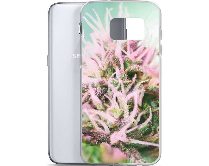 Cannabis Flower Samsung Cell Phone Case - Weed Accessories, Stoner Girl Gifts, Weed Gifts for Her - Cannabis Accessories - Ganja Gifts