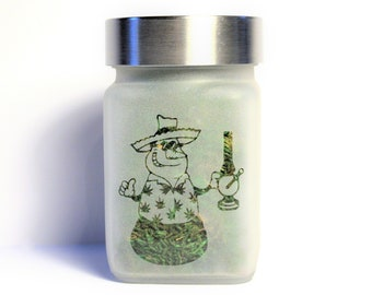 Frosty Stash Jar - Weed Christmas, Cannabis Christmas 2019 - Weed Gifts & Stoner Accessories - Weed Gifts for Stoners
