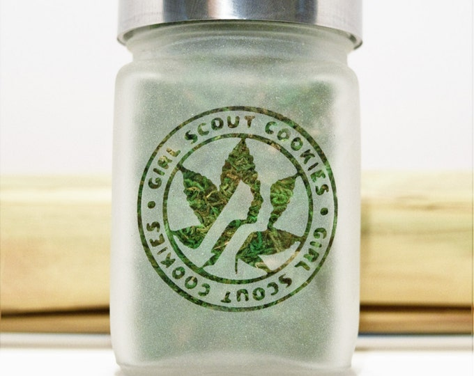 Girl Scout Cookies Stash Jar - Weed Accessories, Stoner Gift & Stash Jars - Cannabis Gifts, Stoner Accessories - Weed Jars