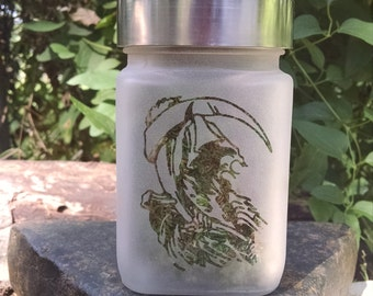Grim Reaper Stash Jar - 420 Weed Accessories, Stoner Gifts - Dank Stash Jars - Stoner Accessories, Weed Jars - Dope Jar