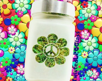 Peace Daisy Stash Jar