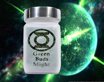 Green Lantern Stash Jar - Green Buds Might Weed Jar - Weed Accessories, Stoner Gifts &  Weed Stash Jars - Weed Gift - Stoner Accessories