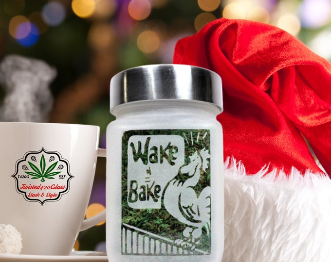 Wake and Bake Weed Stash Jar