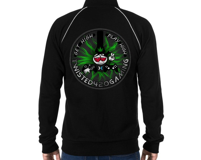 Twisted420Gaming Team Jacket,  Get High Play High, Men's Cannabis Clothing, Street Wear by T420G - Marijuana Clothing for Men