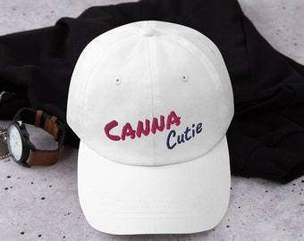 Canna Cutie Bridesmaid Baseball Cap, Bachelorette Party Gear, Cannabis Themed Wedding Party Apparel