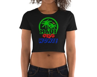 Multi Color Maui Wowie Ladies Crop Top