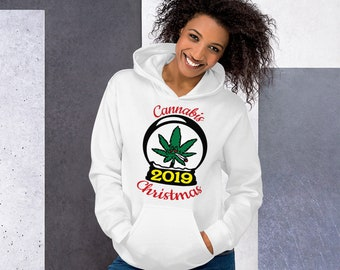 Cannabis Christmas 2019 Hoodie Sweatshirt, Unisex Weed Hooded Sweatshirt, Weed Christmas Shirt, Sizes to 5XL