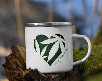 Love & Wild Herbs Coffee Cup, Fun Campers Gift, 420 Camping Cannabis and Coffee Mug, Wake N Bake Outdoors