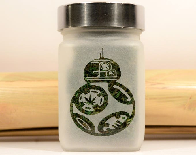 Star Wars BB8 Stash Jar with Pot Leaf