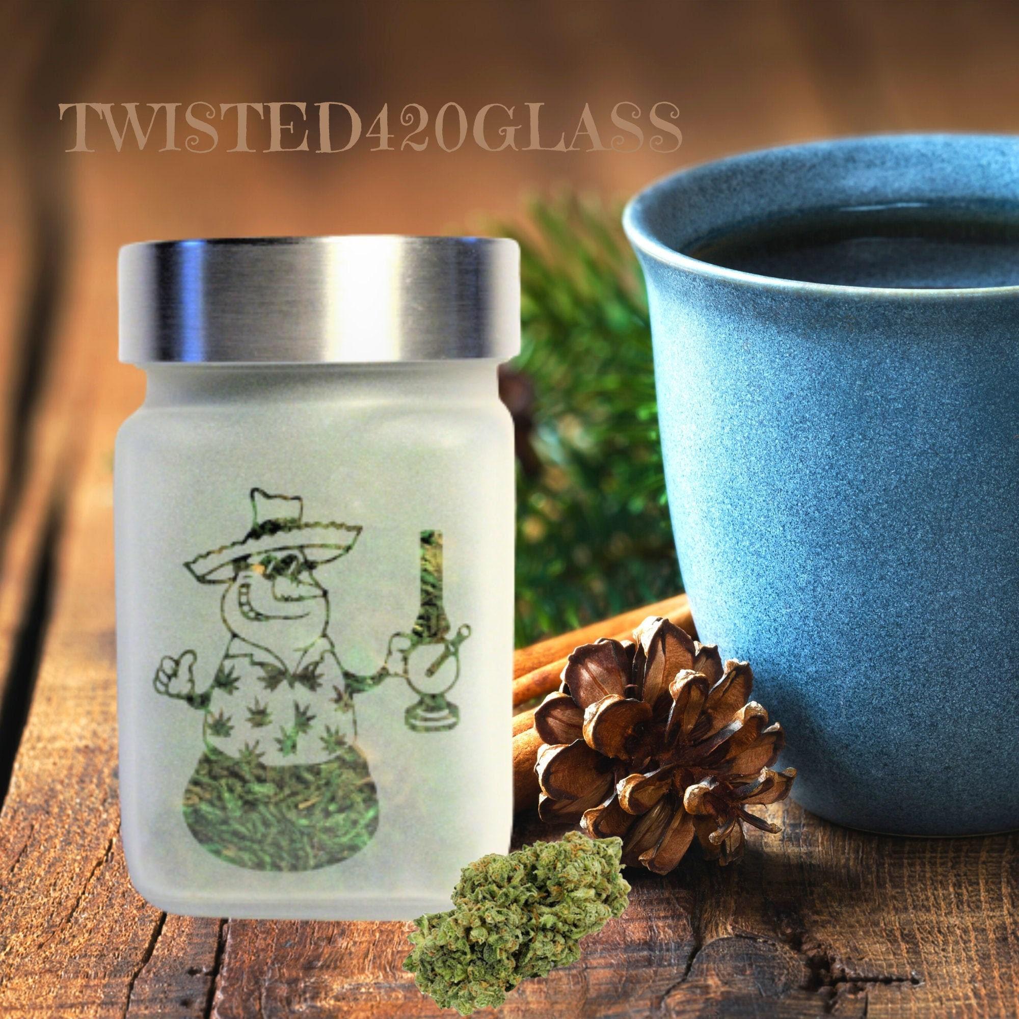 Faded Frosty Stash Jar - Weed Christmas, Cannabis ...