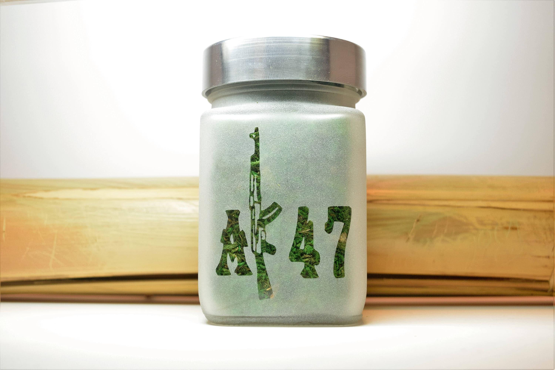 Ak 47 Stash Jar Weed Accessories Stoner Gifts Stash Jars Weed Jars For Gifts Ganja Gift Ideas For Him