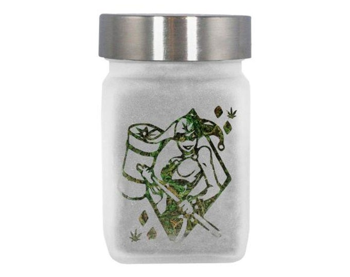 Sexy Clown Girl Stash Jar - Weed Accessories - Stoner Gifts for Her - Weed Jars, Stoner Accessories - Stoner Gear, Weed Gifts