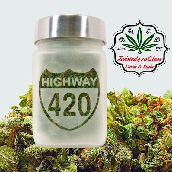 Highway 420 Stash Jar | Stoner Gift, Stash Jars & Weed Accessories - Ganja Gifts - Hwy 420 Jars, Stoner Accessories, Weed Gift