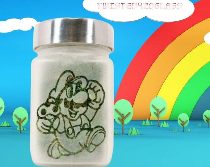 Mario Stash Jar - 8Bit Gamer Gifts, Stash Jars, Weed Gifts- Weed Accessories - Stoner Gifts, Gamers Accessories - Stoner Accessories