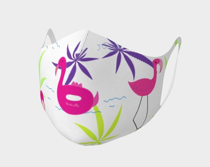 Fun Flamingo Summer Face Mask