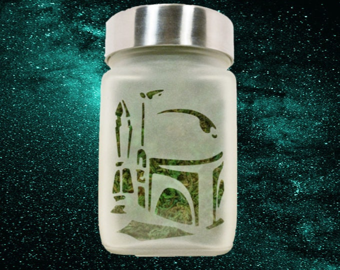 Bounty Hunter Helmet Stash Jars - Weed Accessories & Stoner Dad Gifts - 420 Airtight Containers - Weed Gift