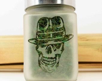 Gangster Skull Stash Jar - Stoner Gifts, Weed Accessories & Stash Jars - Ganja Gifts for Him - 420 Stoner Gear