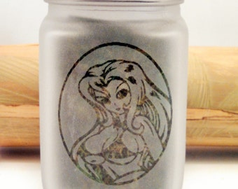 Anime Stash Jar - Weed Accessories, Stoner Gifts - 420 Weed Jars, Stoner Accessories, Glass Stash Jars - Weed Gifts