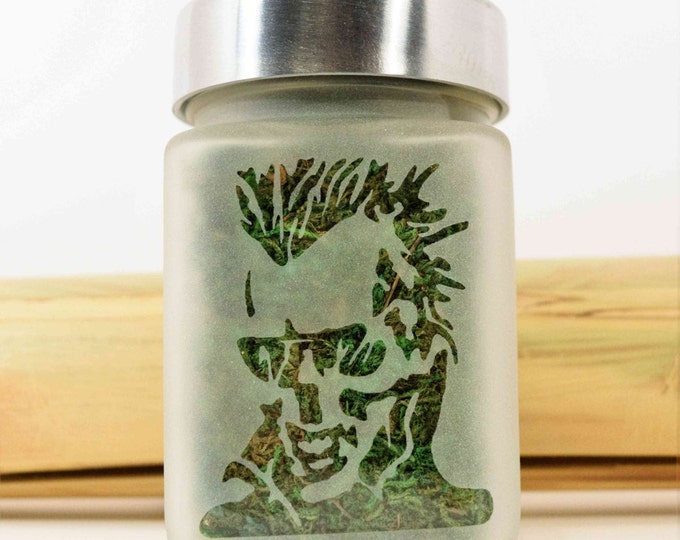 Zombie Skull Stash Jar - Weed Accessories, Cannabis Storage, Airtight, Smell Resistant Glass Stash Jars