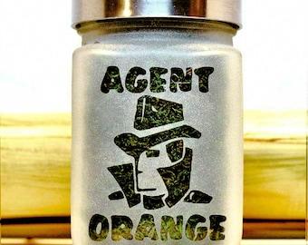 Agent Orange Weed Jar