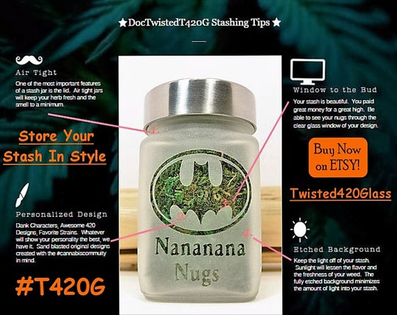 Custom Engraved Logo Metal Air tight Stash Pot Smell Proof Personalised Message