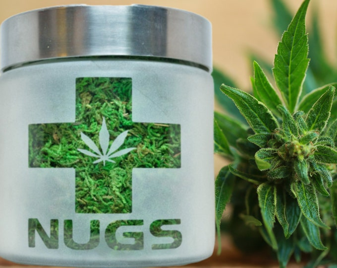 Nugs Stash Jar by Twisted420Glass - Fun Elevated Birthday Gifts - Storage Accessories