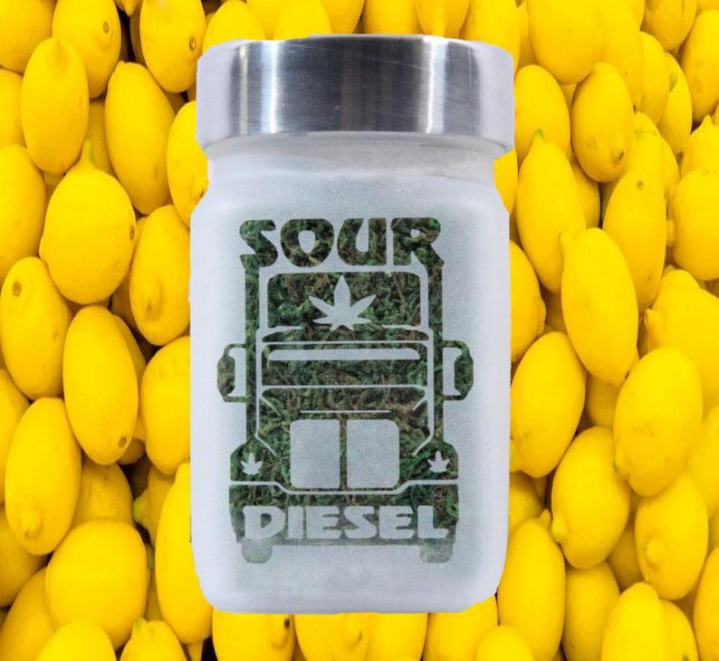 Sour Diesel Weed Stash Jar - Weed Accessories, Stoner Gifts & Stash Jars -  Cannabis Edibles Jars - Weed Gifts