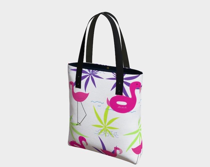 Flamingo Summer Beach Tote and Summer Hand Bag