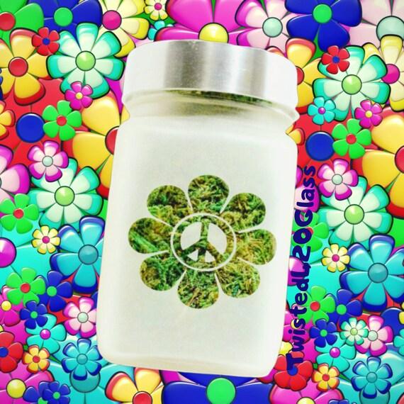 Peace Daisy Stash Jar