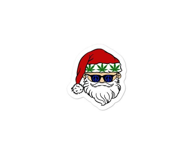 Stoner Santa Christmas Gift Sticker