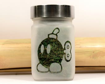 Ba Bomb Stash Jar - Super Mario Brothers inspired Gamer Gifts - Weed Accessories, Stoner Gifts - Stoner Accessories - 420 Gift