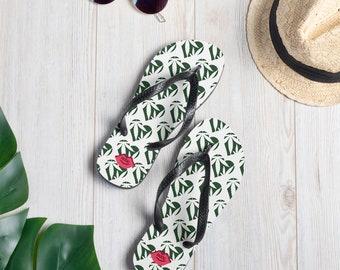 T420G Ladies Love Weed Flip Flop Sandal