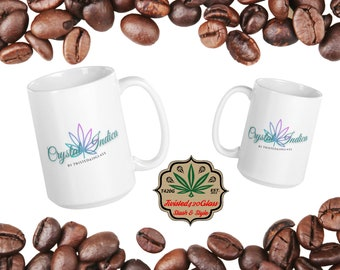 Glossy Crystal Indica Ceramic Coffee Mug, Available in 2 Sizes