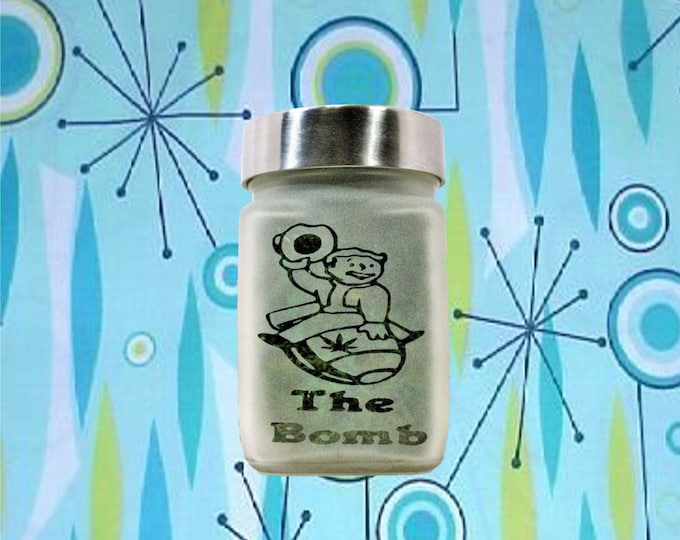 Vault Boy The Bomb Stash Jar - 420 Weed Accessories, Stash Jars & Stoner Gifts, Weed Jars, Gamer Gifts - Cannabis Edibles Canister