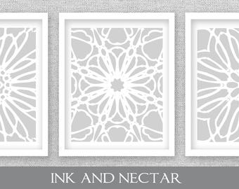 Gray Printable Art, Set of 3 Prints, Gray Wall Art, Kitchen Art, Kitchen Wall Art, Dining Room Art, Bedroom Wall Art, Gray Art Prints