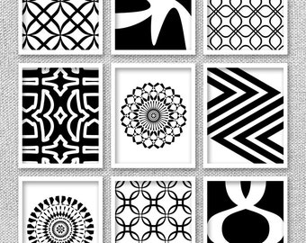 Gallery Wall Prints, Black and White Art, Printable Art, Gallery Wall Decor, Printable Wall Art, Office Art, Gallery Wall Art, 9 Art Prints