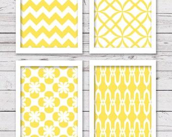 Printable Art, PRINTABLE Art Set, Yellow Art, Bedroom Art, Digital INSTANT DOWNLOAD, Yellow Wall Art, Home Decor, Wall Decor