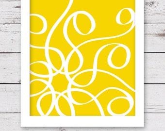 Yellow Art, Abstract Art, PRINTABLE Artwork, INSTANT DOWNLOAD, Yellow Wall Art, Bedroom Art, Printable Wall Art, Art Print, Wall Decor