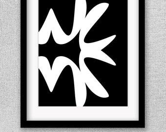 Abstract Art, Abstract Print, Printable Art, Printable Poster, Black and White Art, Black and White Print, Printable Wall Art, Office Art