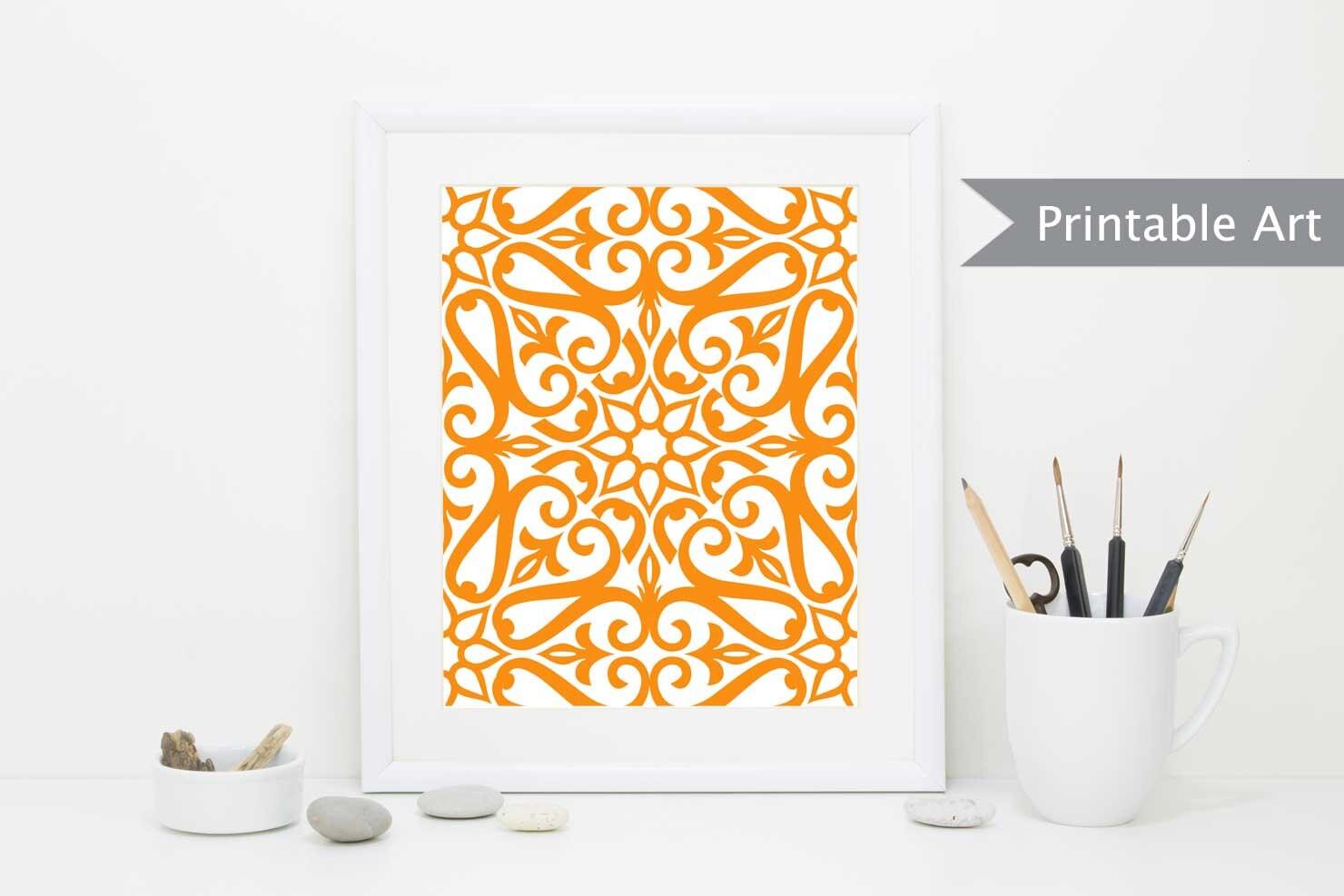 PRINTABLE Art Orange Art INSTANT DOWNLOAD Printable | Etsy