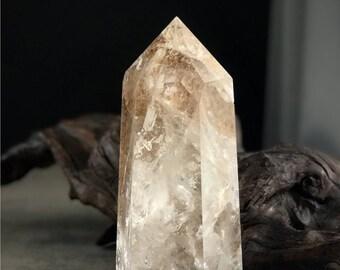 "8.5"" lodolite phantom quartz point"