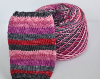 "Self-Striping Yarn - ""My Bloody Valentine"""