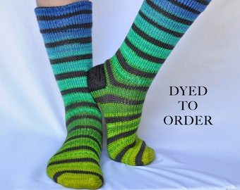 "Striped Gradient Matching Socks Set - ""Dragonfly"""