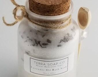 Lavender Oil Bath Salt, Spa, Relaxation, Bath, Therapeutic, Minerals, Stress, Sore Muscles, Remove Toxins, Circulation
