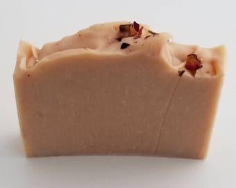 Pink Clay Geranium Oil Soap, Therapeutic, Moisturizing, Sensitive Skin, Nourishing, Handmade, Vegan, Natural